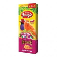 Happy Jungle палочки для канареек и экзотический птиц 3х30 г