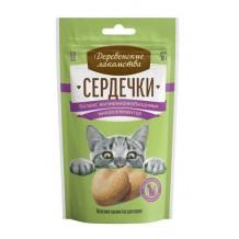"""Деревенские лакомства для кошек """"Сердечки баланс жизненнонеобходимых микроэлементов"""""""