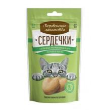 """Деревенские лакомства для кошек """"Сердечки здоровья мочевыводящих путей и почек"""""""