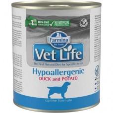 Farmina VetLife Корм для собак гипоаллергенный утка с картофелем 300г