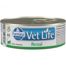 Farmina VetLife NATURAL DIET CAT RENAL Корм для кошек при заболеваниях мочевыводящих путей 85г