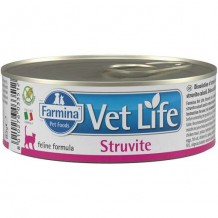 Farmina VetLifeNATURAL DIET CAT STRUVITE Корм для кошек для лечения и профилактики рецидивов струвитного уролитиаза 85г