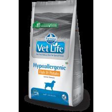 FARMINA Vet Life Dog Hypoallergenic Fish & Potato (сух.для собак при пищевой аллергии и/или непереносимости с Рыбой и картофелем)