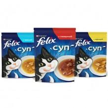 Felix® супы для кошек в ассортименте 48г.