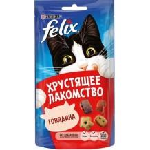 Felix® хрустящее лакомство для кошек с говядиной 60г.