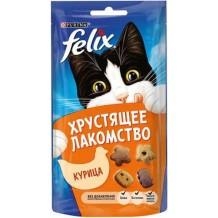 Felix® хрустящее лакомство для кошек с курицей 60г.