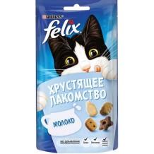 Felix® хрустящее лакомство для кошек с молоком 60г.
