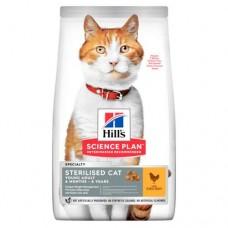 HILL'S SCIENSE PLAN сухой корм для стерилизованных кошек до 6 лет Курица