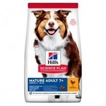HILL'S Science Plan сух.для пожилых собак средних пород Курица