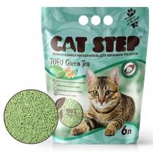 CAT STEP Тоfu Green Tea Комкующийся наполнитель растительного происхождения
