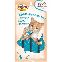 Мнямс Крем-лакомство с тунцом Кацуо и Магуро для кошек