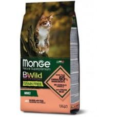 Monge Cat BWild GRAIN FREE беззерновой корм из лосося для взрослых кошек