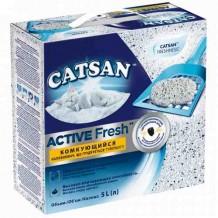 Катсан Active Fresh наполнитель для туалетов, 5 л