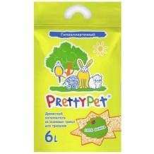 PrettyPet Наполнитель для грызунов и птиц осиновый 6л/2кг.