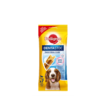 PEDIGREE Denta Stix Лакомство по уходу за зубами для собак средних пород весом от 10 до 25 кг