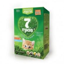 Травка Альпийские луга 7 трав для кошек (собак, грызунов, хорьков, птиц), лоток