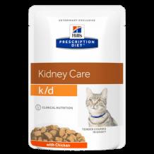 Hill's Prescription Diet Feline k/d пауч для кошек лечение заболеваний почек курица