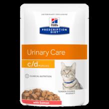 HILL'S Prescription Diet c/d Multicare Feline Tender Chunks in Gravy with Salmon пауч для кошек профилактика МКБ струвиты Лосось
