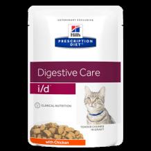 HILL'S  Prescription Diet пауч для кошек I/D лечение заболеваний ЖКТ Курица