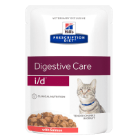 HILL'S  Prescription Diet  I/D пауч для кошек лечение заболеваний ЖКТ Лосось
