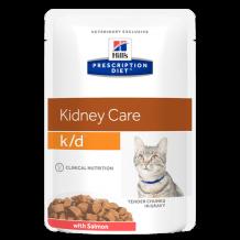 HILL'S  Prescription Diet пауч для кошек K/D лечение заболеваний почек Лосось