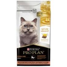 PRO PLAN  Nature Elements для взрослых кошек для поддержания здоровья кожи и шерсти с лососем