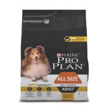 PRO PLAN OPTIWEIGHT для склонных к избыточному весу или стерилизованных взрослых собак с курицей