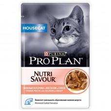 PRO PLAN конс. для кошек домаш в соусе с лососем