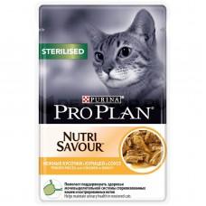 PRO PLAN конс. для кошек кастр/стерилиз.в соусе с курицей